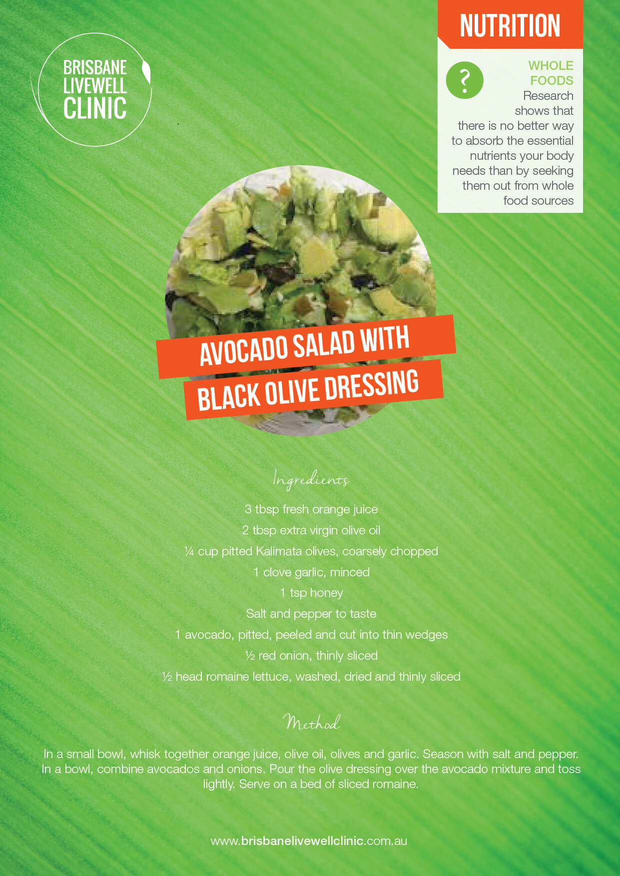 BLC Recipes Nutrition